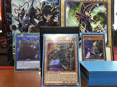YUGIOH COMPLETE SPYRAL Deck + Blue Card Sleeves And Deck Box!