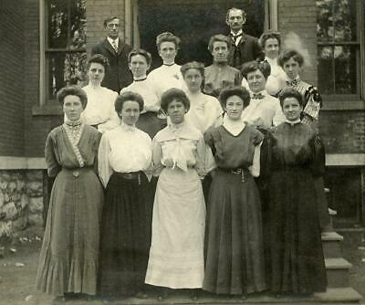 AA240 Vtg Photo VICTORIAN WOMEN GROUP c Early 1900's