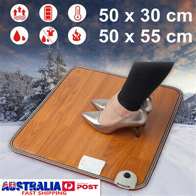 Electric Feet Warmer Carpet Pad Heating Mat Floor Thermostat Office Waterproof