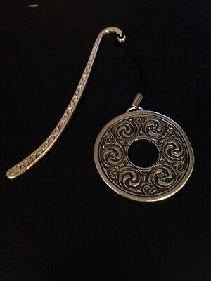 Celtic Interlaced Disc New Refodop Pattern bookmark 3D English pewter charm