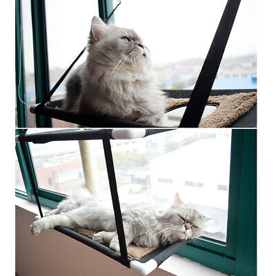 Double Layer Cat Window Mounted Basking Hammock Pet Shelf Kitten Perch Seat Bed
