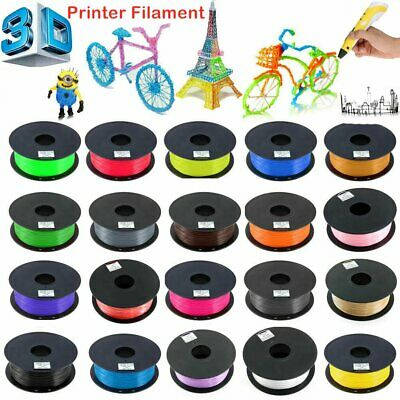 New 3D Printer Filament 1.75mm PLA ABS 1kg For Makerbot Multiple Color Available