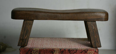 "9.2"" Antique Old Chinese Huanghuali Wood Hand Carved Dynasty Chair stool Statue"