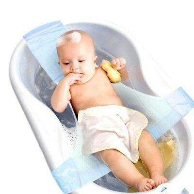 Newborn Infant Baby Bath Adjustable Antiskid Bathtub Seat Sling Mesh Net