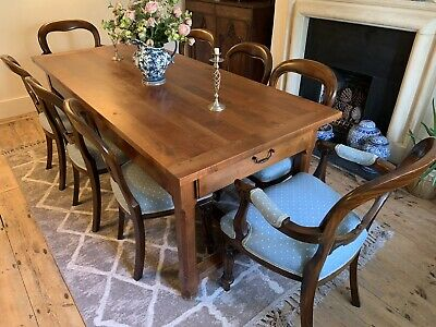 Antique Dining Room Table With 8 Chairs