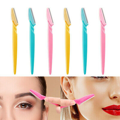 FT- 12pcs Women Facial Face & Eyebrow Hair Removal Razor Trimmer Shaper Shaver