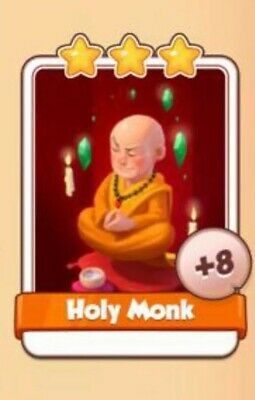 Coin Master Cards Holy Monk Fast Delivery