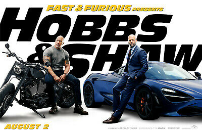 Fast And Furious Hobbs /& Shaw Hot Movie Poster Wall Art 24x36/""