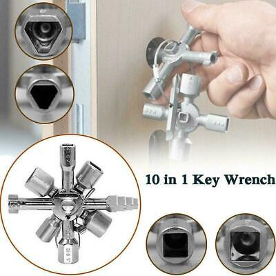 10In1 Utility Cross Switch Plumber Key Wrench Triangle For Electric Cabinet R6Z9