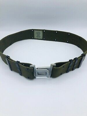 USGI LC2 Individual Equipment Web Pistol Belt Nylon Green Alice Size Medium M
