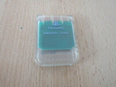 Official Sony 1Mb Memory Card Ps1 Psone Playstation Transparent Crystal Clear