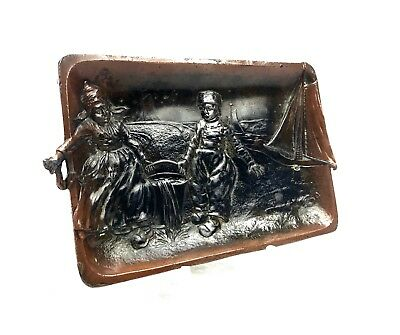 Antique Copper Pin Dish / Coin Tray / Dutch / Arts And Crafts Antique