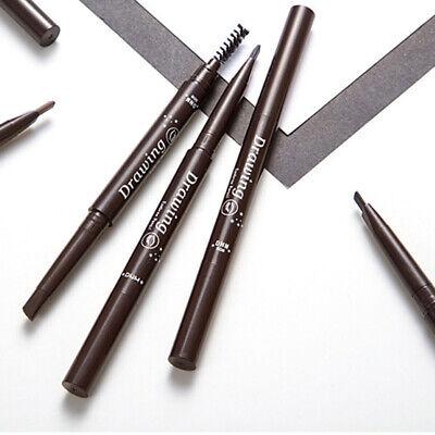 Cy_ DNM Long Lasting Sweat Resistant Double-headed Eyebrow Pencil with Brush Boi