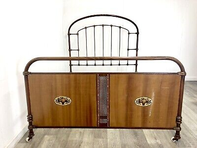 """Antique metal framed French Double bed frame  Standard Double size 4'6"""""""