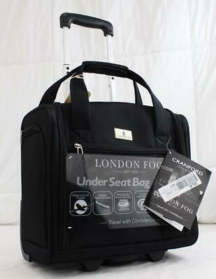 "London Fog Cranford 15"" Wheeled Underseater Carry On Suitcase Black"