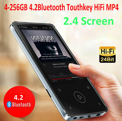 Bluetooth 4.2 MP3 MP4 Player 4G-256GB Flash Memory Card 2.4'' Video Music Player