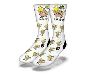 New Adult / Junior Savvy Sox Shaka White Socks Limited Edition Release Osfa