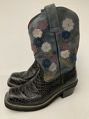 f48ac990d72 ARIAT FAT BABY black top stitched leather western cowboy boots ...