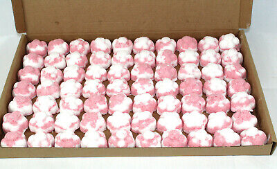 Raspberry Scented Bath Bombs 70 x 10g Flowers reduced plastic