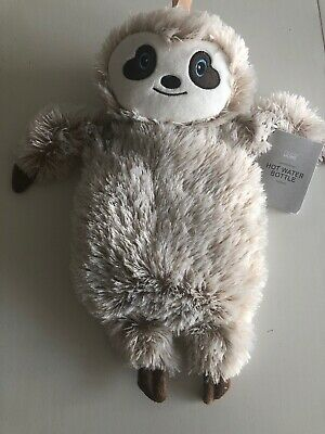 Primark SLOTH Hot Water Bottle & Cover Character Novelty Xmas Present Stocking