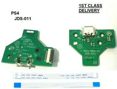SONY Playstation PS4 Micro USB Charging Port JDS-011 Board  + Flex Cable 12-PIN