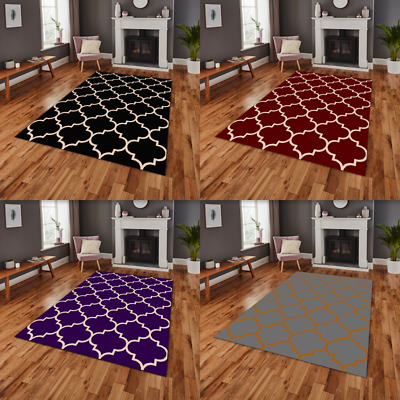 Modern Rugs Soft Trellis Pattern Contemporary Moroccan Large Floor Carpet