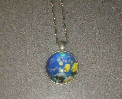 Beautiful Colorful Fish Unisex Silver Pendant Necklace Adult / Kid New With Tag