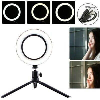 1Set 8''LED  Dimmable Ring Light Makeup Phone Camera Selfie Lighting With Stand