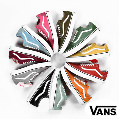 Van s Old Skool Skate Shoes Classic Canvas Sneakers Vulcanized Soles Unisex Size
