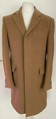 Mens M&S Collection Marks & Spencer Luxury Wool & Cashmere Camel Overcoat Medium