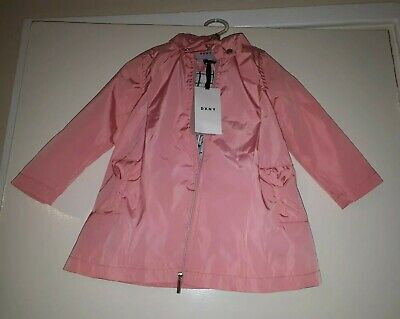 DKNY Girls Pink Lightweight Anorak Jacket  Age 18 months New with tags (RPP£75)