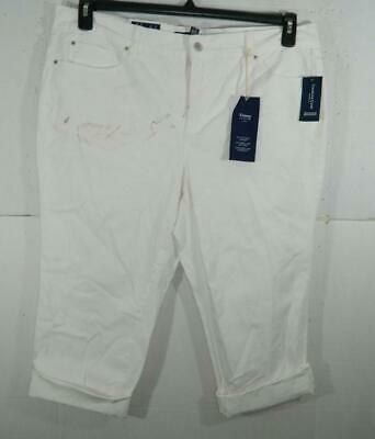 Charter Club Women Plus White Bristol Capri Pants NWT Size 18W X 22 MSRP $64 B16