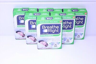 Lot Of 6 BREATHE RIGHT NASAL STRIPS EXTRA CLEAR ( 6 X 26 CT BOXES ) Sensitive