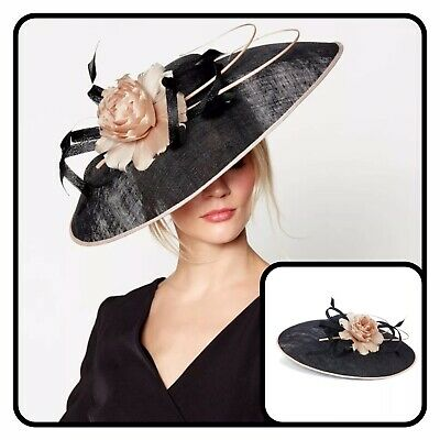 J By Jasper Conran Black 'Lila' Brim Fascinator - RRP £85