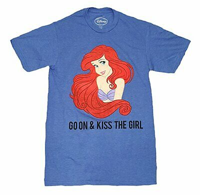 Disney The Little Mermaid Ariel Go On & Kiss The Girl Men's T Shirt X-Large