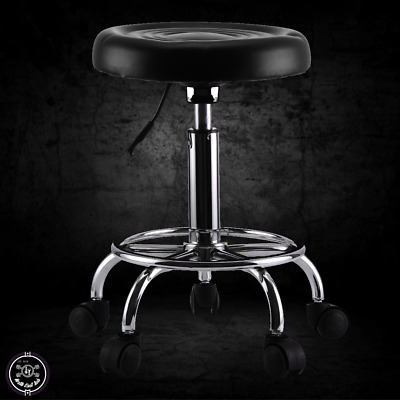 Adjustable Rolling Stool Swivel Mechanics Seat  Garage Workshop Creeper Chair