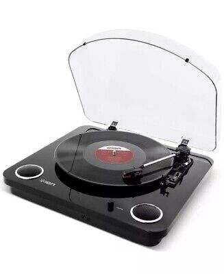 ION Audio Max LP Belt-Drive Vinyl Record Player Turntable with Built-In Stere...