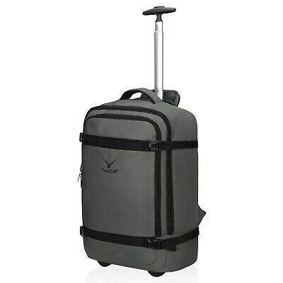 Hynes Eagle 42L Rolling Wheeled Backpack Carry On Flight Approved Travel Luggage