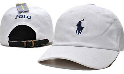 Pony Polo Adjustable Leather Strap Back Fine Embroidery Baseball Golf Hats Cap