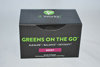 It Works! Greens on the Go Blend Packets - Berry Flavor - Unopened Exp 6/2018