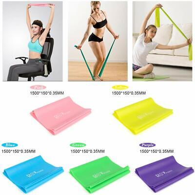 Gym Fitness Stretch Band Resistance Bands Elastic Rubber Rope Yoga Strap Belt
