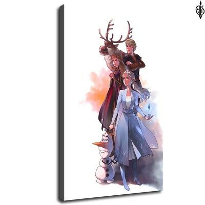 frozen2 art poster HD Canvas prints Home Decor Wall art painting 12X20inch