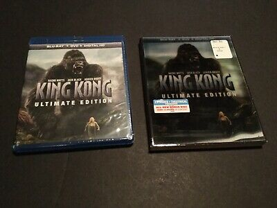 KING KONG ULTIMATE EDITION Lenticular Slip Cover BLURAY+DVD+DIGITAL HD) (SEALED)