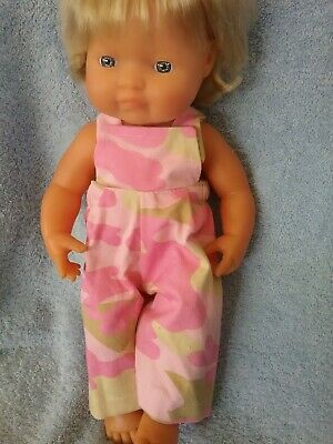 Handmade Clothes For 38cm Miniland Doll Overalls
