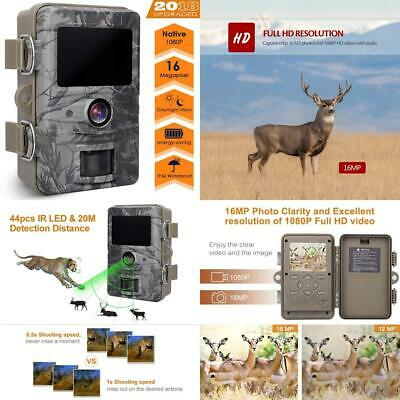 AGM Game Trail Camera, 16MP 1080P Wildlife Camera IP66 Waterproof with...
