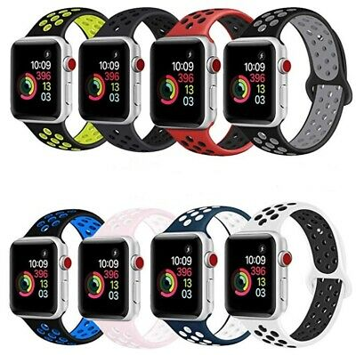 Sport Silicone Strap iWatch Band for Apple Watch Series 5 4 3 2 1 38 42mm 40 44