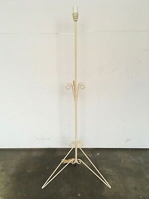 Vintage Wrought Iron Floor Lamp - 1950s / 60s