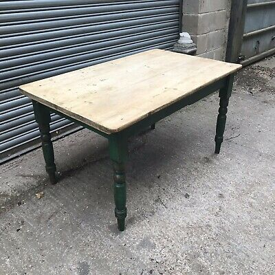 LATE 19TH CENTURY Original PAINTED KITCHEN TABLE