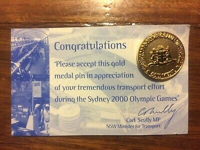 Sydney 2000 Olympic Games Transport Gold Medal Pin
