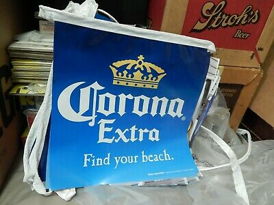 Corona Extra ~ Find Your Beach ~ 18' (12''x12'') Flag Beer Tent Banner ~ BAR_PUB